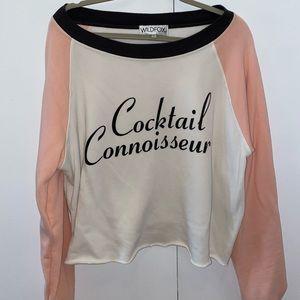 Two-tone Wildfox fashion sweatshirt